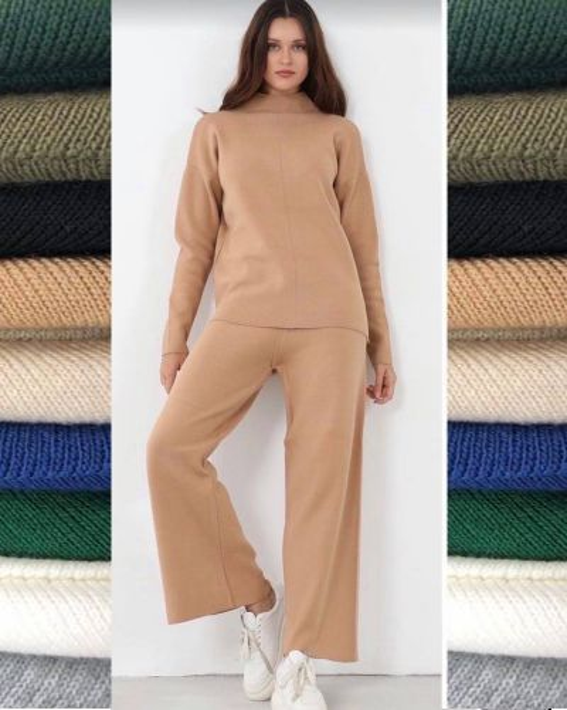 Fashion Oversize Πλεκτό Σετ