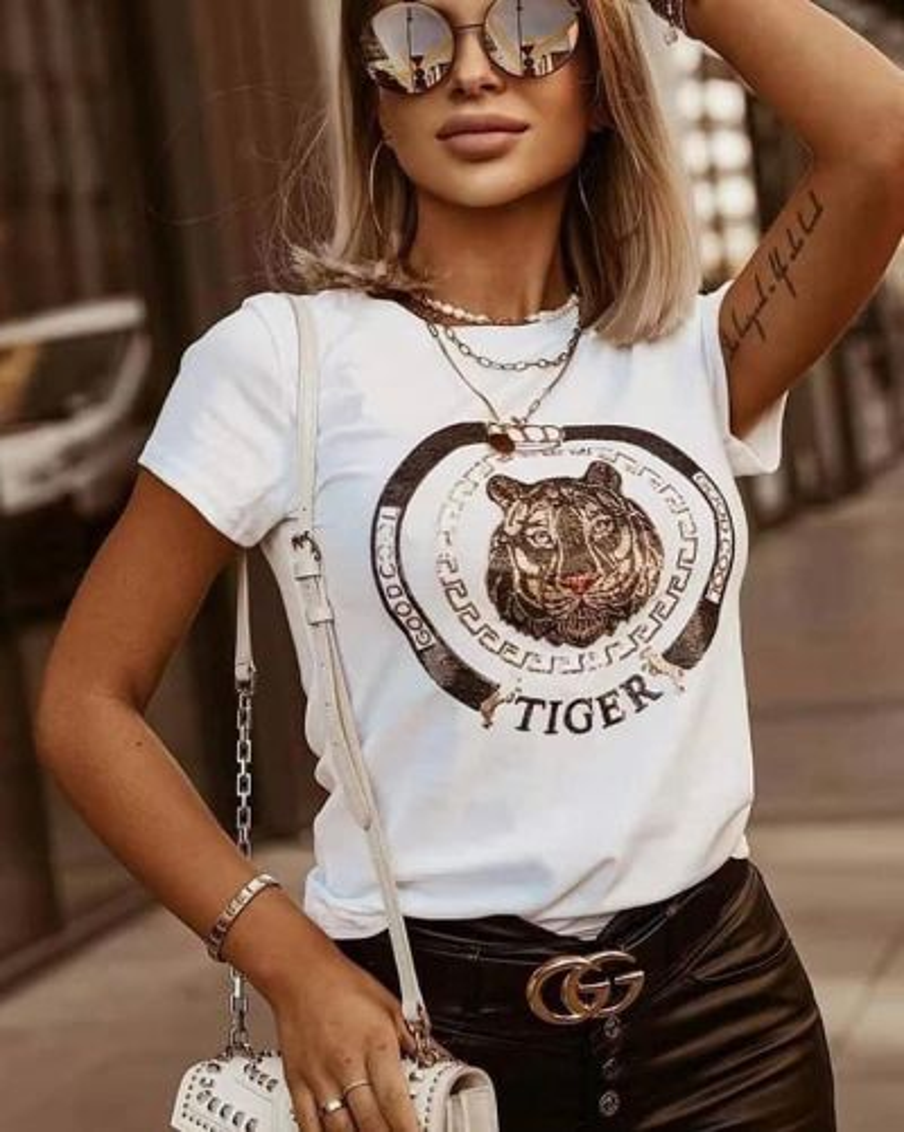T-Shirt με Σχέδιο Tiger